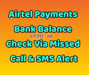 Airtel Payments Bank Balance Check
