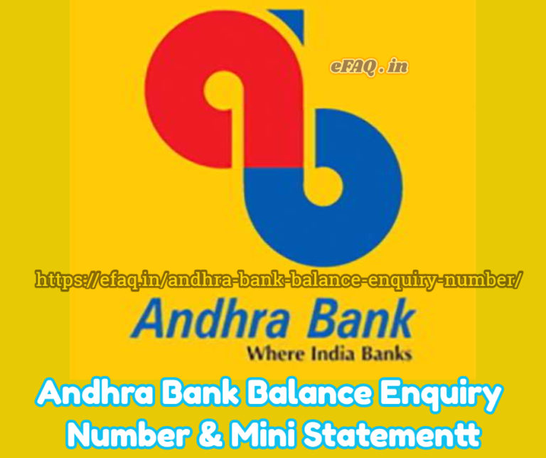 Andhra Bank Balance Enquiry Number